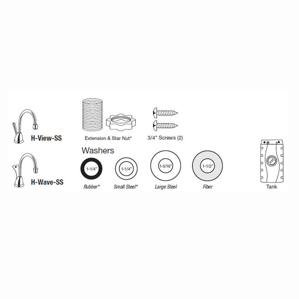 InSinkErator H-ViewSN-SS Involve View Hot Water Dispenser