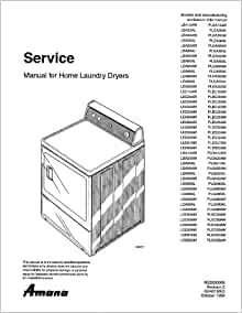 AMANA LEA60AW service manual: MAYTAG: Amazon.com: Books