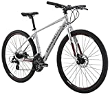 "Diamondback Bicycles 2016 Trace Complete Dual Sport Bike, 16""/Small, Bright Silver"