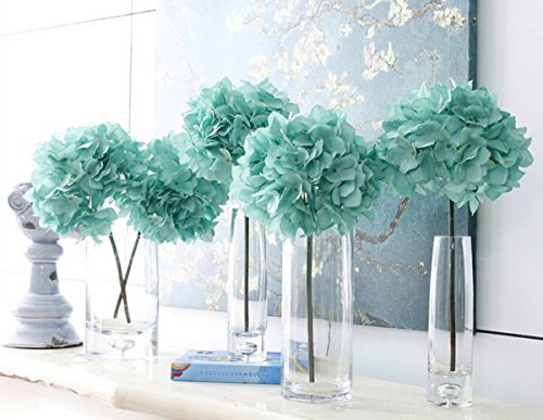 4 PCS High Quality Simulate Green Hydrangea for Wedding Decoration and Photo Blue 1