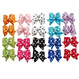 PET SHOW Dot Rhinestone Pet Dog Hair Bows W/Rubber Bands Cat Puppy Grooming Accessories Assorted Color Assorted Pack of 10