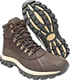 KINGSHOW Mens M0705 Water Proof Leather Rubber Sole Snow Boots