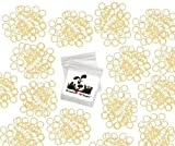 """100 Pack Orthodontic Elastics 1/4"""" (6.4mm), Rubber Bands Great for Dog Grooming Top Knots, Bows, Braids, Tooth gaps, and Dreadlocks"""