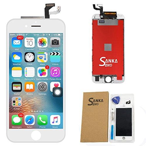 SANKA iPhone6s フロントパネル カスタムパーツ 4.7インチ フロントガラスデジタイザ 液晶パネル LCD スクリーン 修理パーツ白