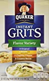 Quaker Instant Grits Flavor Variety, 12-Count, Single Pack