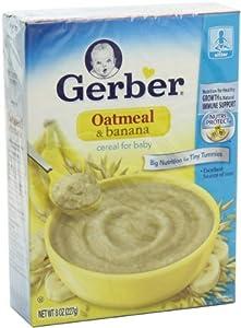 Amazon.com : Gerber Baby Cereal Oatmeal with Banana 8 ...