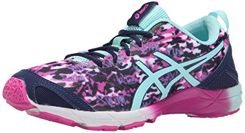 ASICS Women's Gel-hyper Tri Running Shoe, Pink Glow/Aqua Splash/Navy, 8 M US
