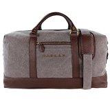 Reisetasche-Haular-Weekender-Handgepck-Travelbag-Messing-Verzierung-Canvas