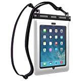 Ultraproof Waterproof Case for iPad Air and iPad 2 3 4 - [White] Universal UltraBag Waterproof Pouch with Touch Responsive Front and Back Transparent Screen Protector Windows [One Year Warranty] Fits Any Version of Apple iPad Air 4 3 2 1 (A.K.A IPX8 Certified Premium Protective Smartphone Waterproof Life Pouch / Credit Card Waterproof Bag Case Cover)