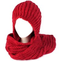 hooded scarf: NEW 554 CHUNKY HOODED SCARF PATTERN