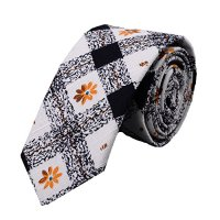 Ysiop Men Printed Cotton Neckties Fashion Skinny Cravat