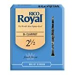 Rico Royal Bb Clarinet Reeds, Strength 2.5, 10-pack for $12.99 + Shipping
