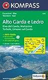 Alto Garda e Ledro: Riva del Garda, Malcesine, Torbole, Limone. Escursioni / Bike. Wandern / Rad. GPS-genau. 1:25.000