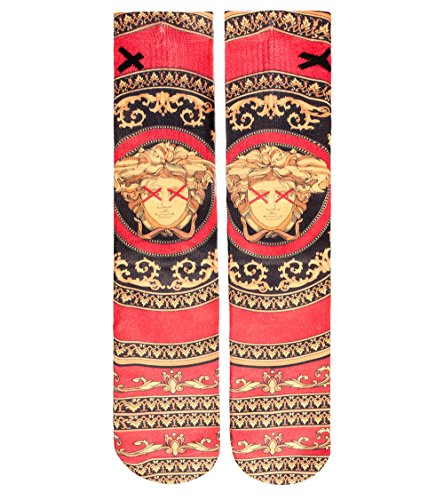 Odd Sox Men's High Fashion Socks One Size Red