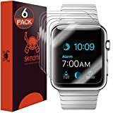 Apple Watch 42mm Screen Protector (Series 1/Series 2), Skinomi TechSkin (Updated Version)(6-Pack) Full Coverage Screen Protector for Apple Watch 42mm Clear HD Anti-Bubble Film