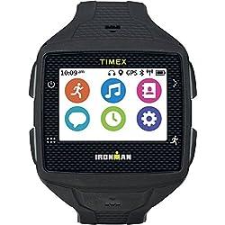 Timex TW5K89100F5 Ironman One GPS Watch with HRM Sensor Strap, Full Size, Black/Gray