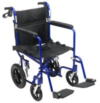 ##ForSale Medline Transport Wheelchair with Brakes, Blue ...