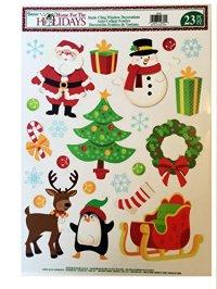 Static Cling Window Decorations Christmas Assortment ...
