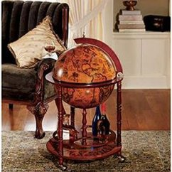 Cherry Sofa Table With Storage Images Of Living Room Red Sixteenth-century Italian Replica Old World Globe Bar