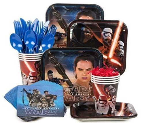 Star Wars The Force Awakens Party Supply Kit (Serves 8) - Star Wars Birthday Party Supplies