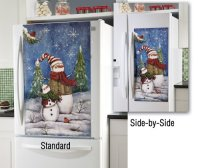 Decorative Snowman Side By Side OR Standard Refrigerator
