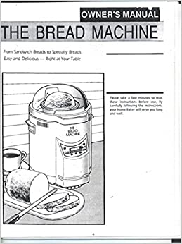 DAK Bread Machine Manual & Recipes (FAB 2000 Turbo Baker