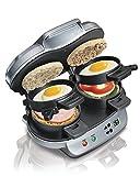 Hamilton Beach 25490 Dual Breakfast Sandwich Maker (Dual Makes 1 to 2 sandwiches)