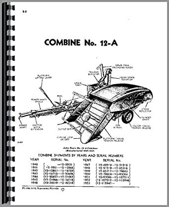 John Deere 12A Combine Parts Manual: Amazon.com