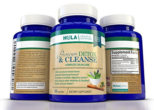 Complete Detox and Colon Cleanse: The Perfect Way to Detoxify, Eliminate Waste, and Begin Your Weight Loss Program - 100% Natural Formula - 60 Vegetable Capsules - 15 Day Gentle Cleansing Cycle