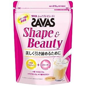 ザバス シェイプ&ビューティ ミルクティー風味【15食分】 210g