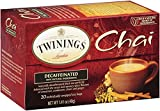 Twinings Chai Tea, Decaf Chai Tea, 20 Count Bagged Tea (6 Pack)