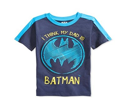 Batman-Toddler-Boys-Short-Sleeve-Tee-2T-Navy-Dad-Batman