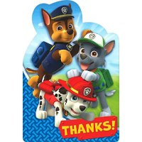 Paw Patrol Birthday Supplies Set Including Invitation