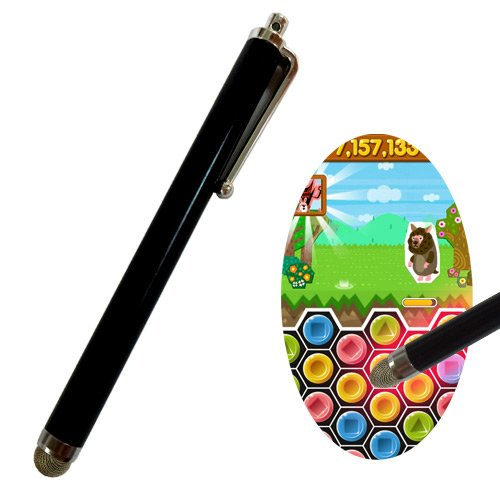 ポコパン高得点 パズドラ 最強!特殊繊維 パズルマスターペン iPad/iPhone用スタイラスペン(タッチペン) ブラック
