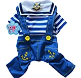 Cute Pet Dog Sweater Puppy T Shirt Hooded Coat Clothes Apparel(Blue)