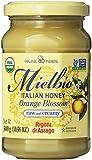 Rigoni Di Asiago Mielbio Italian Raw and Creamy Honey, Orange Blossom, 10.58 Ounce, 6-jars