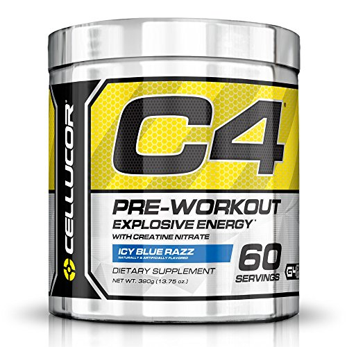 Cellucor-C4-Pre-Workout-Supplements-with-Creatine-Nitric-Oxide-Beta-Alanine-and-Energy-60-Servings-Icy-Blue-Razz-1375-Oz-390-g