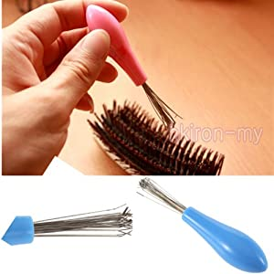 b hair brush cleaner cleaning remove embedded plastic handle tool good