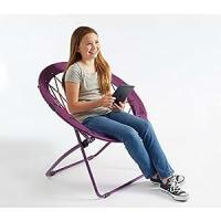 Amazon.com : Bunjo Bungee Chair Purple Large. Dorm ...