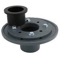 LUXE 2 Inch Cast Iron Shower Drain Base with Rubber Gasket
