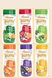 HappyBaby Organic Puffs --  New 6 Count Variety Pack - Updated Flavors for 2016!