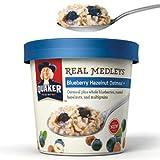 Quaker Real Medleys Blueberry Hazelnut Oatmeal 3 Pack (3 Single Servings)