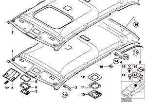 Amazon.com: BMW Genuine Hardtop Parts Headliner Windshield