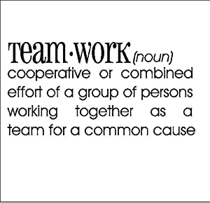 Amazon.com: Teamwork Definition.....Definition Wall Quote