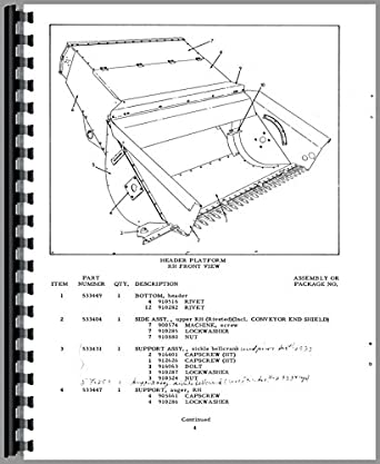 Allis Chalmers 72 Combine Parts Manual: Amazon.com