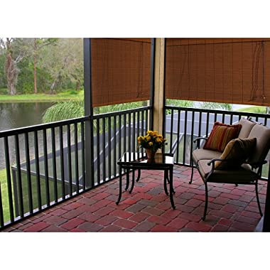 "Product Image Outdoor Patio Radiance Imperial Matchstick Rollup Blind - Fruitwood (36x72"")"