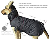 PetCee Waterproof 100% Polyester- Fleece Lined Jacket Reflective Dog Jacket Loft Dog Coat Climate Changer Fleece Jacket (Black XXXL)