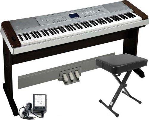 Yamaha DGX640W Digital Piano W/Matching Stand, FREE LP7A 3 Pedal Unit, and Keyboard Bench