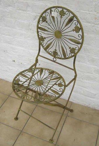 xx Wunderschöner Stuhl aus Metall xx Klappstuhl xx Sehr Massiv xx Rustikaler Stuhl xx Eisenmöbel xx ei2045