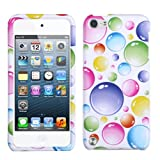 Faceplate Hard Plastic Protector Snap-On Cover Case Apple iPod Touch 5 (5th Generation), Rainbow Bigger Bubbles